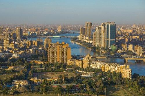منظر عام لنهر النيل والعاصمة القاهرة
