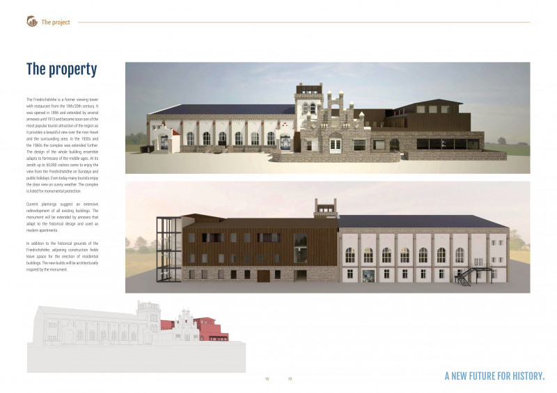 """خطة التطوير المفترضة لمطعم وفندق """"فريدريش هويا"""" في ألمانيا"""