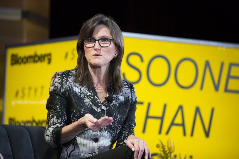"""كاثي وود المؤسِّسة والرئيسة التنفيذية لشركة """"آرك إنفستمنت مانجمنت"""""""