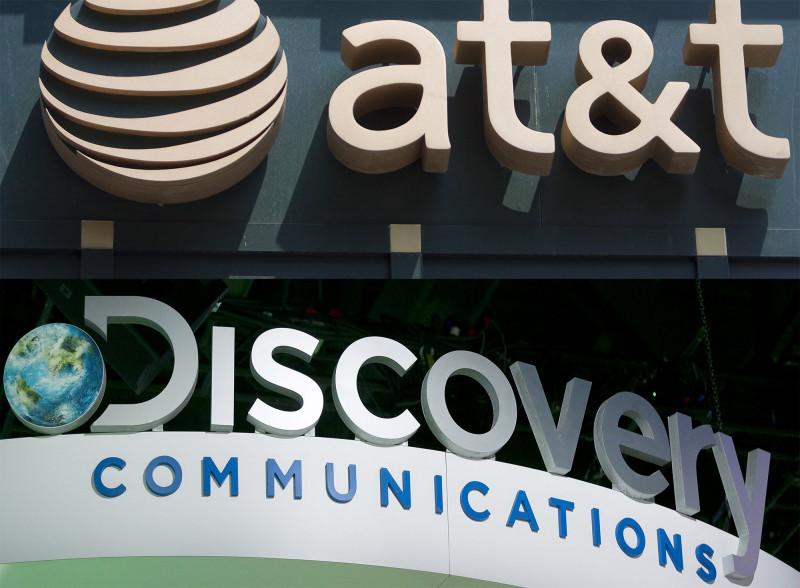 """شعار مركب لشركتي AT&T و""""ديسكفري"""""""
