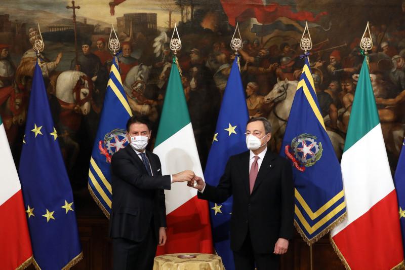 """في شهر فبراير خلف """"ماريو دراجي"""" رئيس الوزراء السابق """"جوزيبي كونتي"""""""