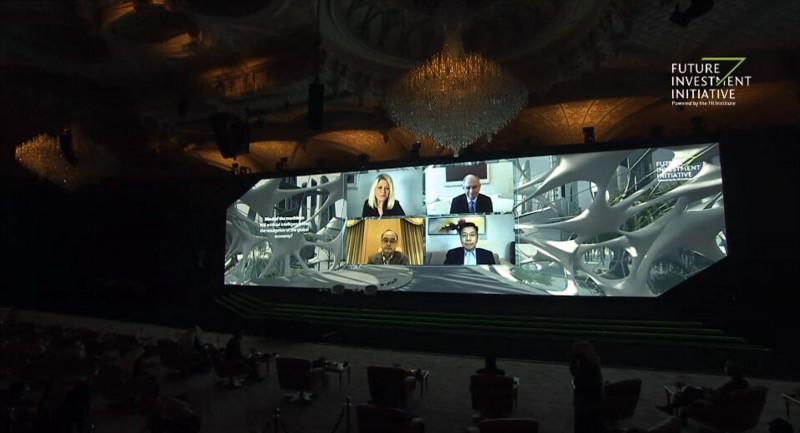 جانب من جلسة الذكاء الاصطناعي في اليوم الثاني. مؤتمر مبادرة مستقبل الاستثمار