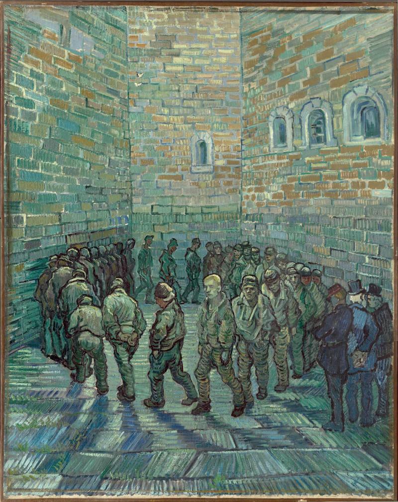 """لوحة فان غوخ """"فناء السجن"""" من عام 1890"""