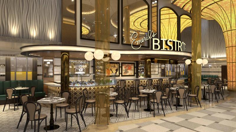 إيمريلز بيسترو  أول مطعم على متن سفينة سياحية من الشيف Emeril Lagasse