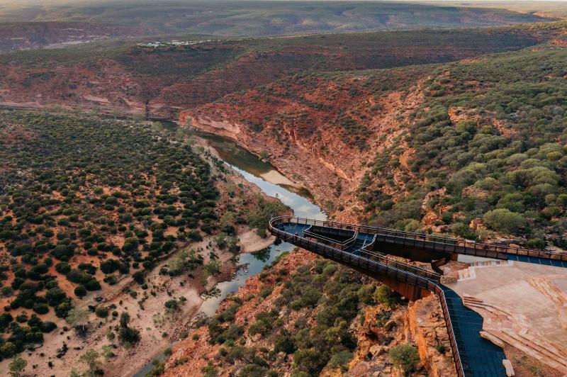 منظر جوي لكالباري سكاي ووك في غرب أستراليا