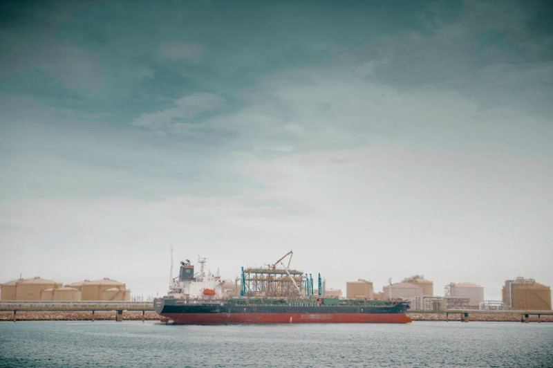 ميناء الجبيل الصناعي في السعودية