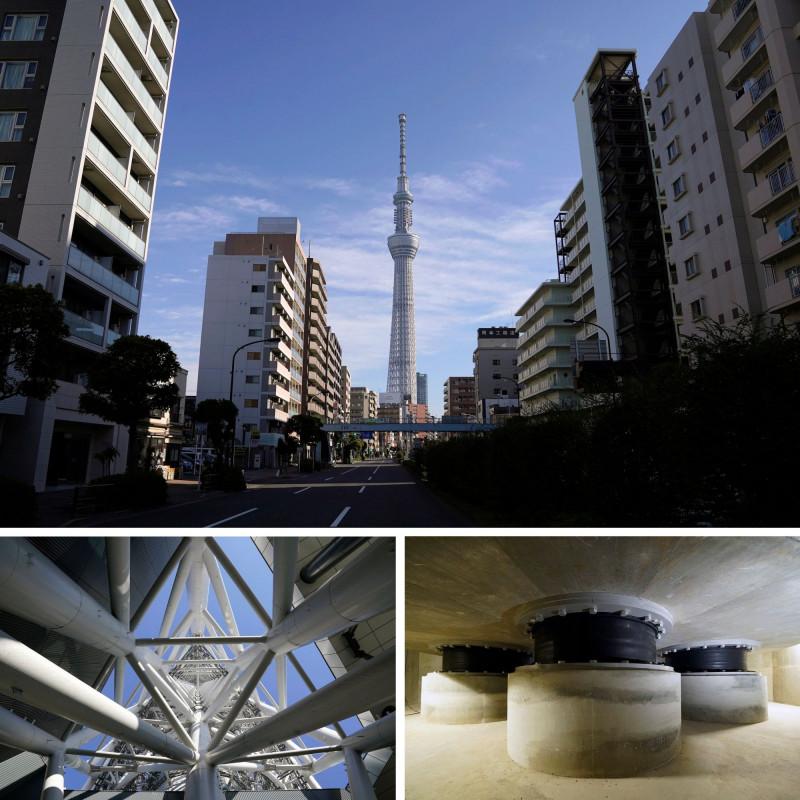 برج طوكيو سكاي تري تم تصميمه للسماح للرياح القوية بالمرور عبر الفجوات