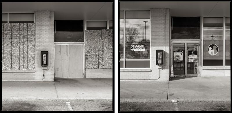 """متجر """"فاميلي دولار"""" – بطريق لايل في مدينة روتشيستر عام 2020 (إلى اليسار) وعام 2021 (إلى اليمين)"""