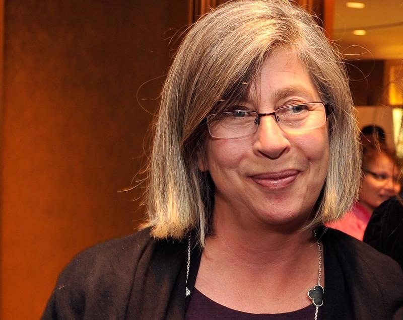"""كارين بريتزكر، مؤسسة مكتب عائلة """"بريتزكر فلوك"""" الذي يعمل في مجال الاستحواذات الخاصة"""