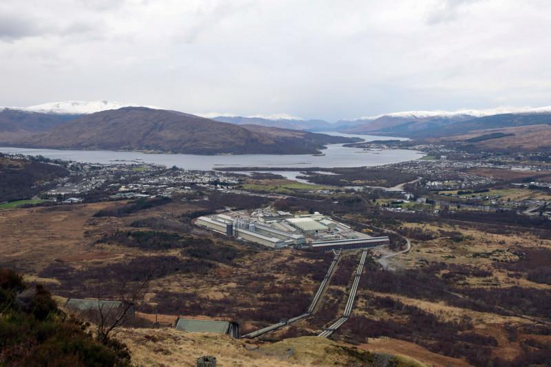 مصهر لوتشابير (Lochaber) للألومنيوم في فورت ويليام باسكتلندا.