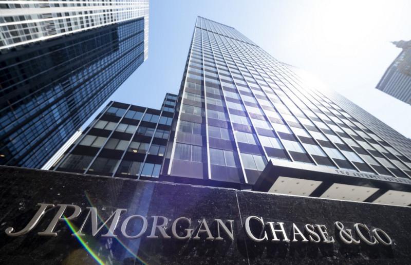 """المقر الرئيسي لبنك """"جيه بي مورغان"""" في مدينة نيويورك. الولايات المتحدة"""