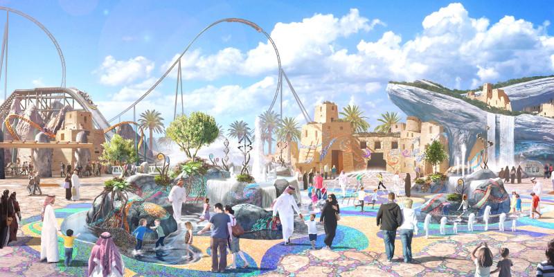 أفعوانية Six Flags القدية بالسعودية أحد المشروعات التي تأتي من خطة السعودية لتنشيط السياحة بها