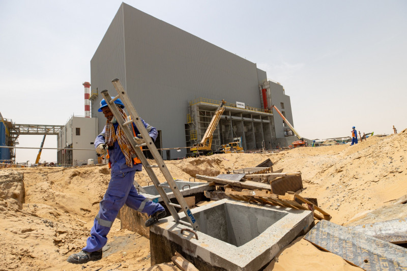 A waste-to-energy plant under construction in the Emirate of Sharjah