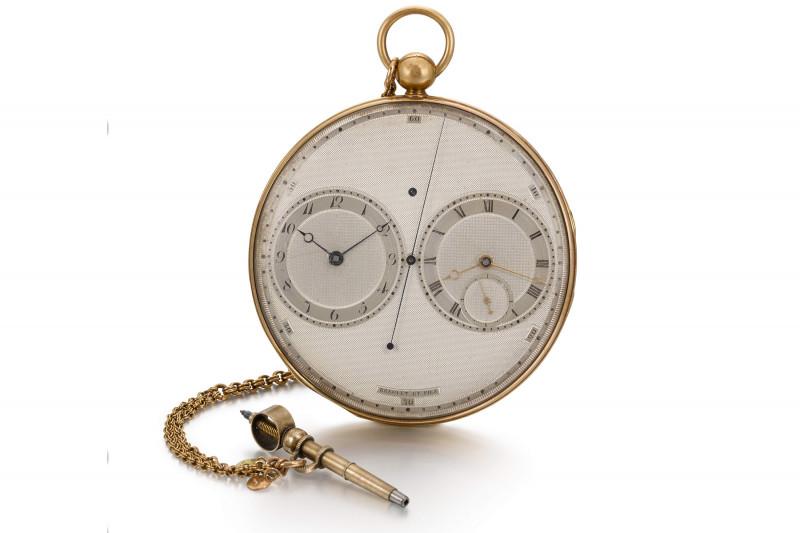 ساعة Resonance مزدوجة الحركة صنعت لجورج أوغستوس فريدريك أمير المملكة المتحدة والملك المستقبلي جورج الرابع وتقدر قيمتها بـ778 ألف دولار