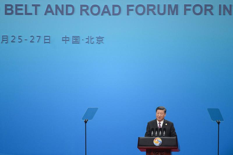 """الرئيس الصيني شي جين بينغ يلقي كلمة خلال حفل افتتاح منتدى الحزام والطريق في بكين عام 2019 حول رؤيته لـ""""إنترنت الطاقة العالمي"""""""