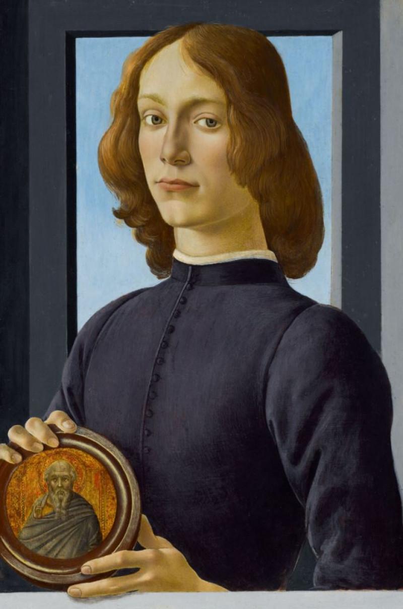 """لوحة """"الشاب الذي يحمل ميدالية"""" رسمت عام 1480"""