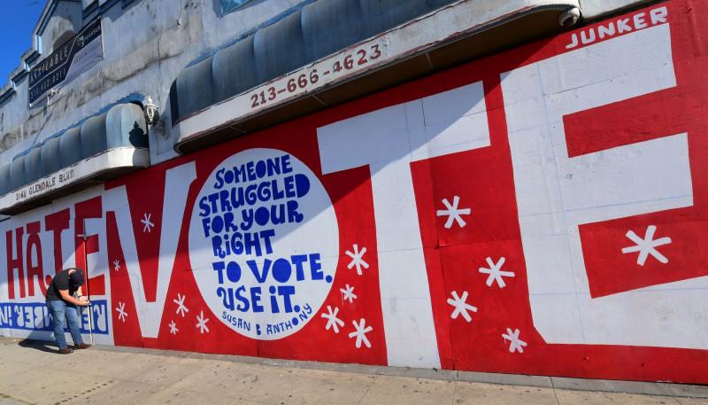 جدارية دعم حقوق التصويت.