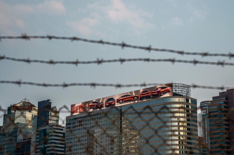 مركز إيفرغراند الصيني في منطقة وان تشاي في هونغ كونغ