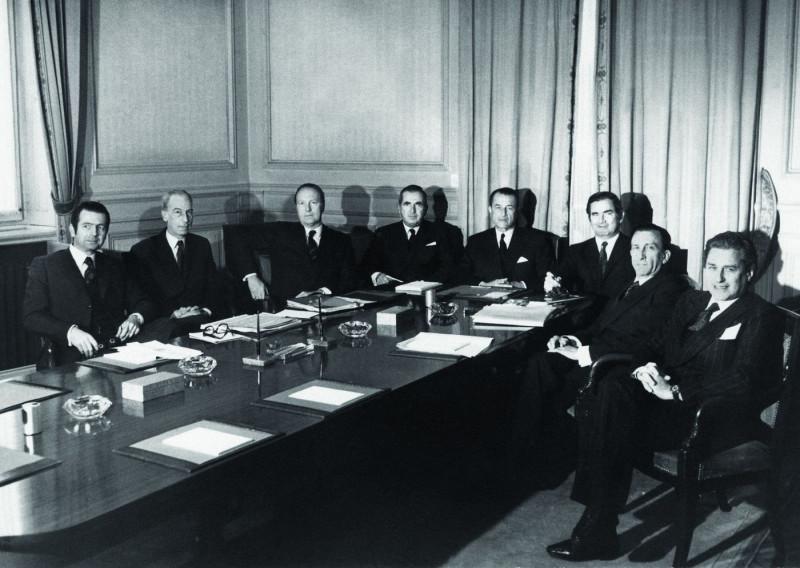 """صالون مديري بنك """"بيكتيت"""" في عام 1970"""