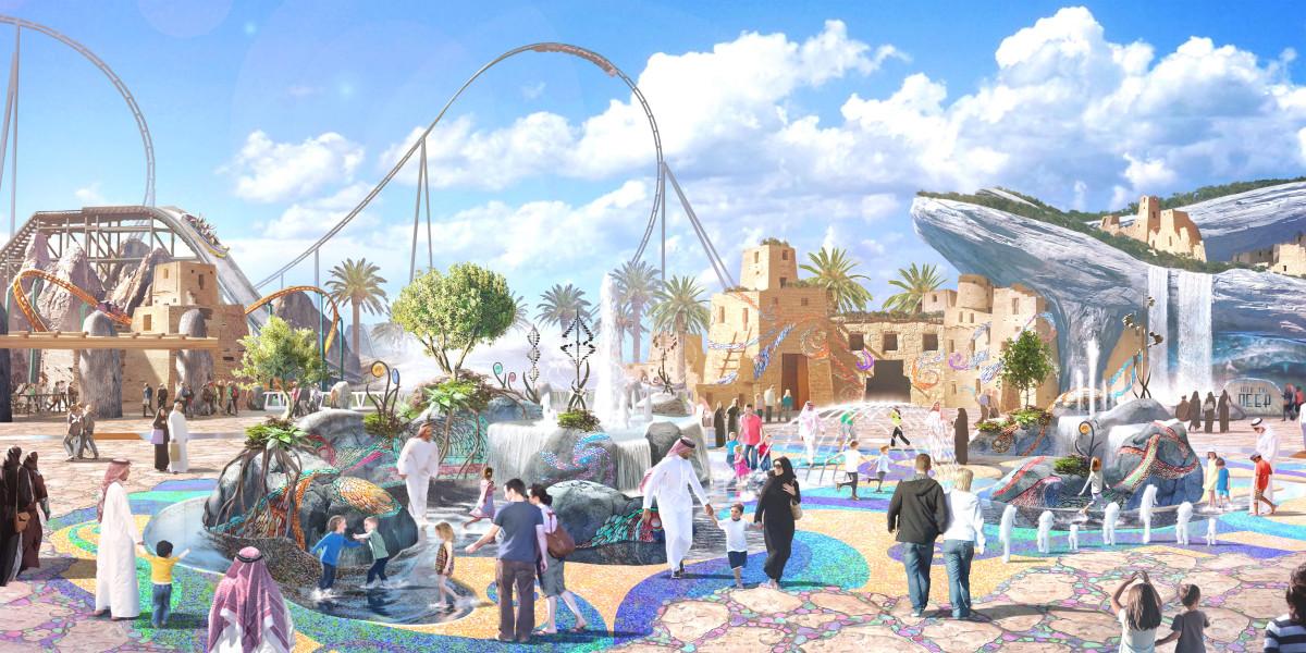 أفعوانية Six Flags القدية بالسعودية
