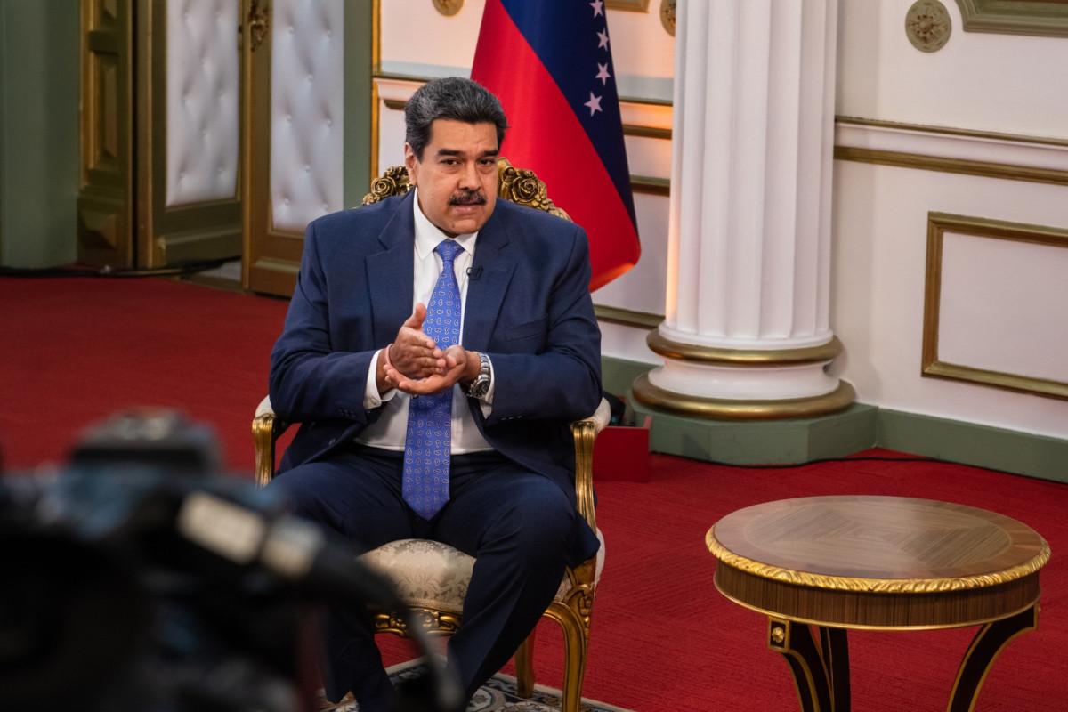 مادورو يتحدث أثناء المقابلة